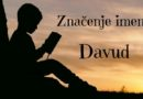 Značenje i porijeklo imena Davud