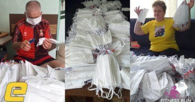 Supružnici iz Zenice za šest sati izradili 500 maski!